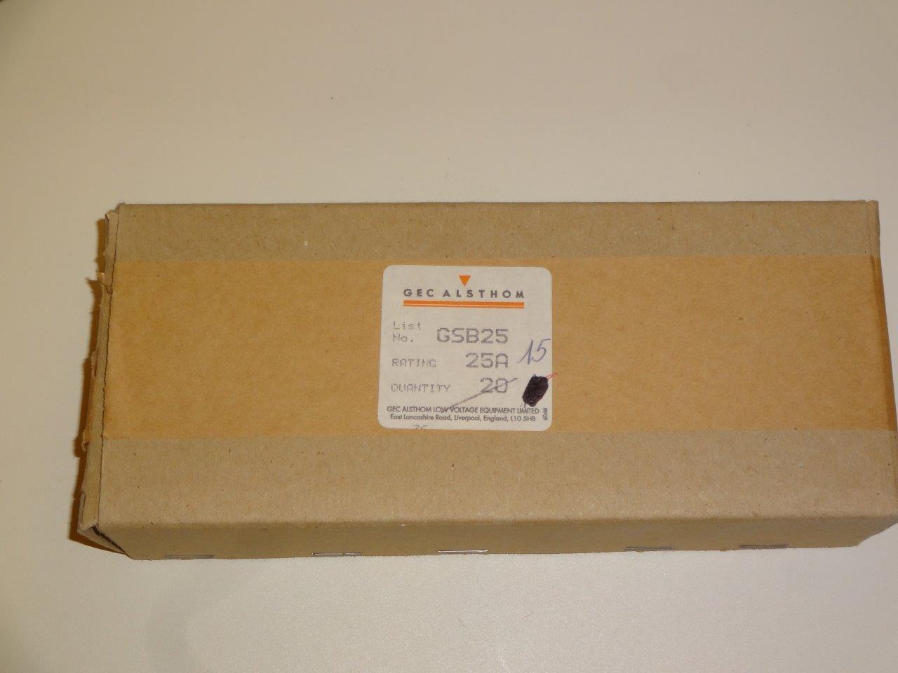 Gsb25 Fuses Gec Alsthom Lwd Weutscheck Distributor Obsolete Ge Fuse Box Bargain Offer