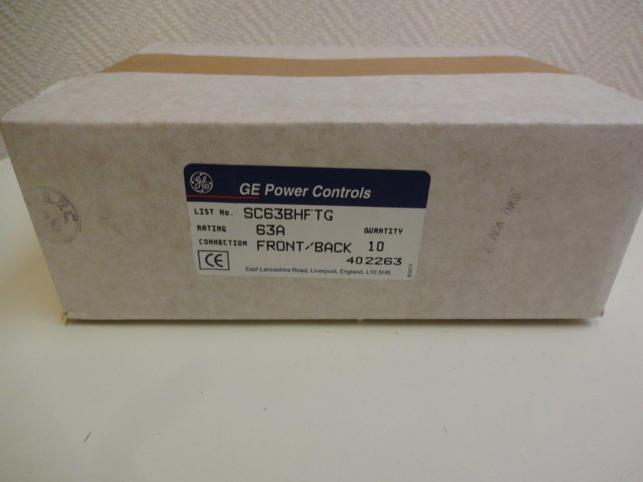 sc63bhft fuse holder ge power controls